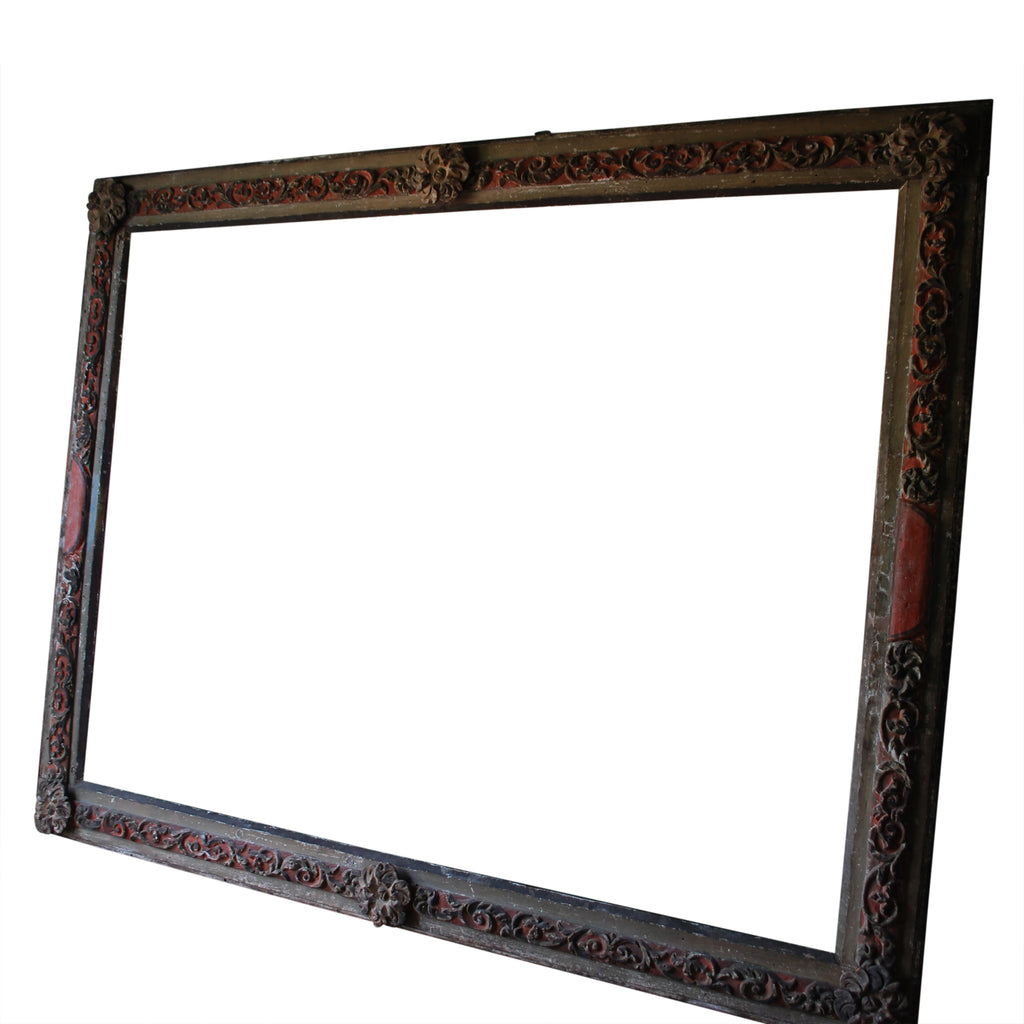 Italian Painted Portrait Frame