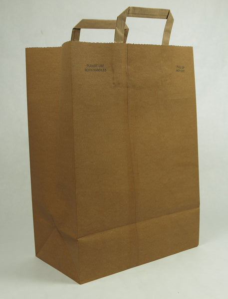 """Silent"" Grocery Store Bag w/Handles"