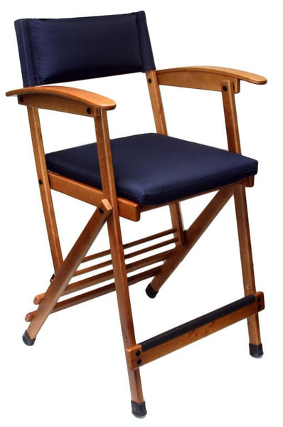 """Hollywood Chair"" Director's Chair w/ Black Padded Seat and Back"