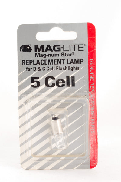 Flashlight Mag Lite. Bulbs 5 cell
