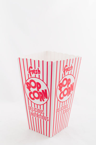 Popcorn Box - open top Red/White stripe