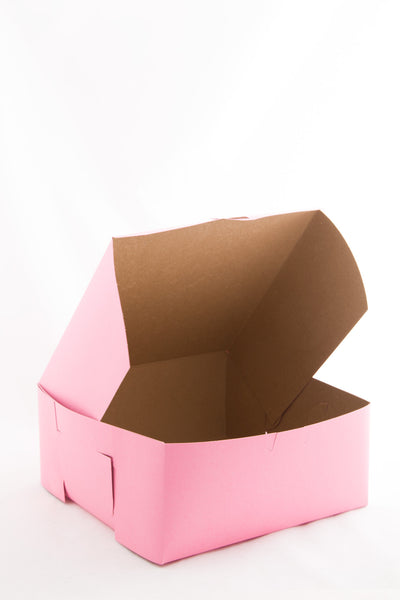 "Pastry Box 9""x9""x4"" Pink"