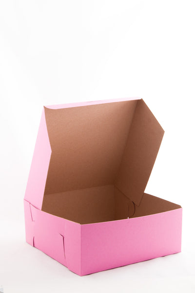 "Pastry Box, 14""x10""x4"" Pink"
