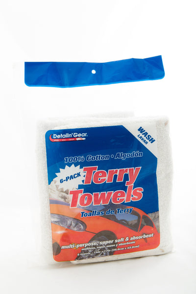 White Terry Towels 6pk