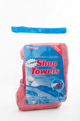 Red Shop Towels 12pk