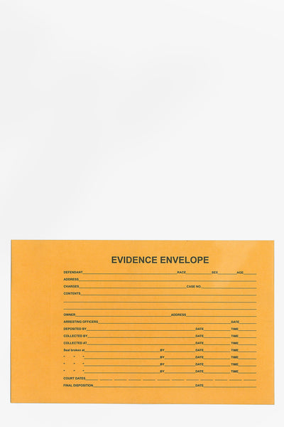 "Paper Evidence Bag EE813 8""x 13"""