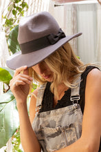 Load image into Gallery viewer, Charcoal Wide brim fedora PREORDER