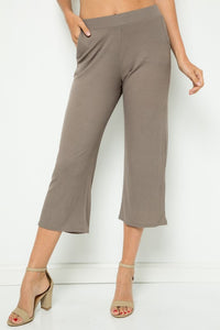 Solid Side Pockets Pants