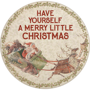 Have Yourself A Merry Little Christmas Bamboo Plate
