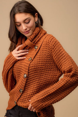 Honey Brown Turtle Neck Sweater