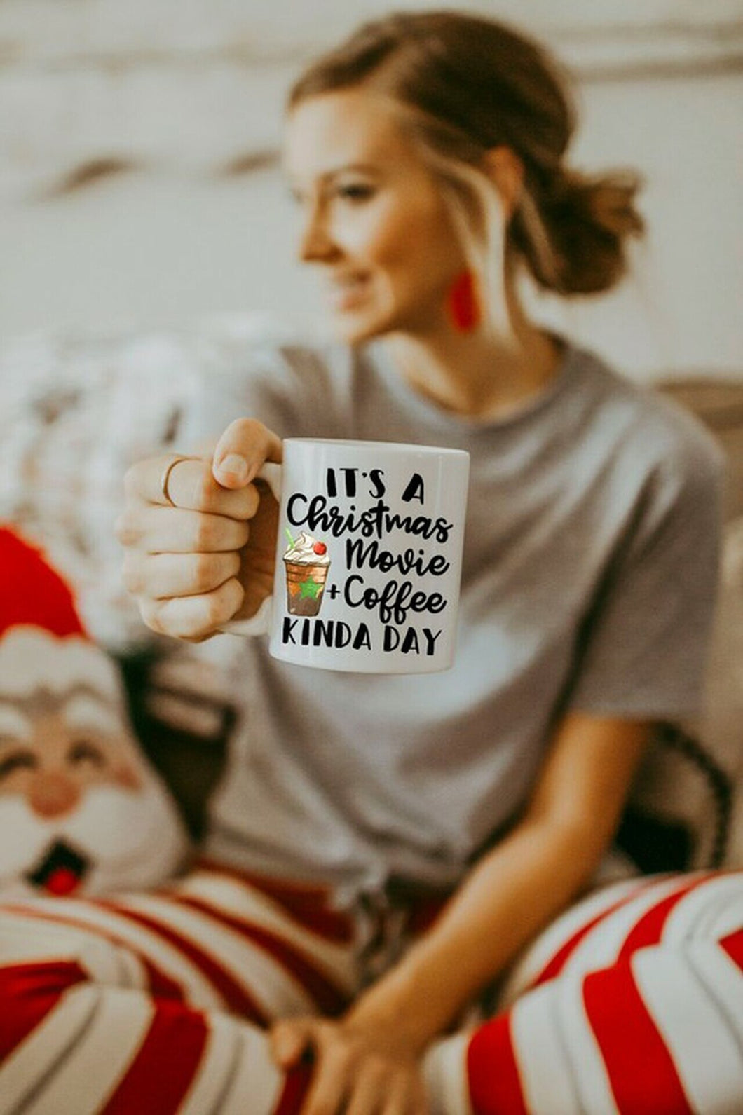 It's a Christmas Movie + Coffee Kind of Day Holiday Mug