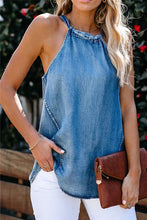 Load image into Gallery viewer, Halter Neck Denim Tank Top