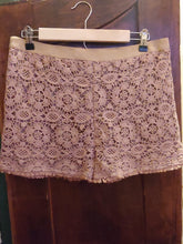 Load image into Gallery viewer, Mocha crochet shorts