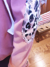 Load image into Gallery viewer, ROSE LEOPARD ELBOW PATCH HOODIE