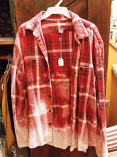 Load image into Gallery viewer, Red & Navy hand dipped vintage flannel Large