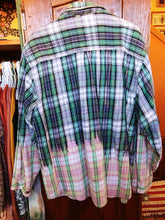 Load image into Gallery viewer, Blue & Green hand dipped vintage flannel XL