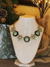 Load image into Gallery viewer, Vintage Style Rhinestone Necklace & Earrings set