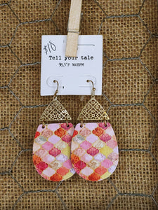 Boho Wood Earrings