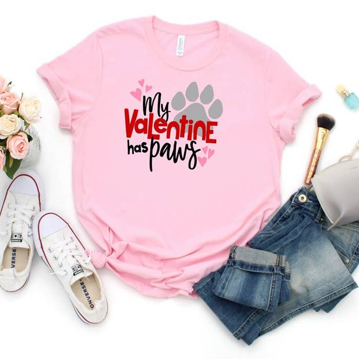 My Valentine Has Paws Tee