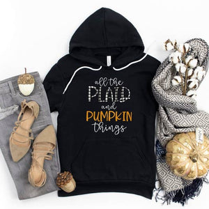 All The Plaid And Pumpkin Things Fleece Hoodie