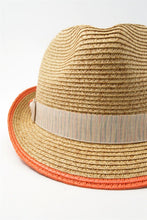 Load image into Gallery viewer, Orange fedora with bow