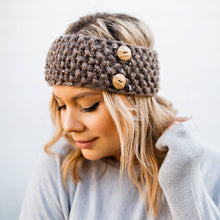 Load image into Gallery viewer, Handmade Knit Button Band Ear Warmers