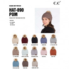 Load image into Gallery viewer, C.C yarn knit pom beanie