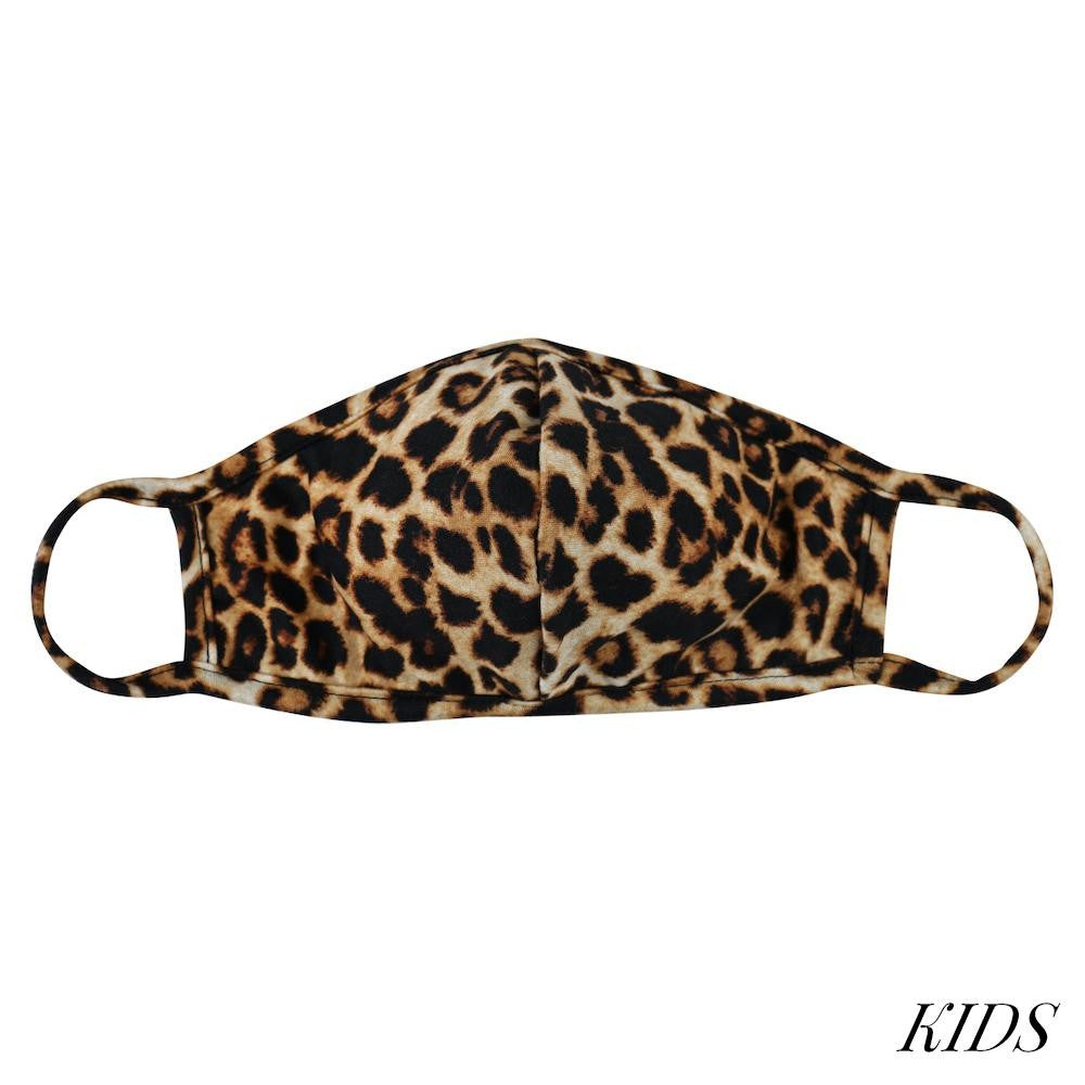 Kids leopard Face mask