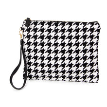 Load image into Gallery viewer, Houndstooth wristlet bag