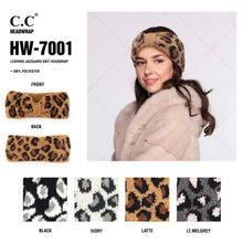Load image into Gallery viewer, C.C Leopard jacquard knit headwrap