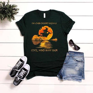 """On A Dark Desert Highway"" Witch tee"