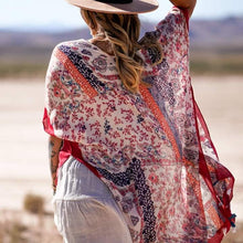 Load image into Gallery viewer, Red Paisley Kimono