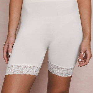 Lace trim layering shorts