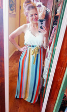 Load image into Gallery viewer, Sleeveless Striped Ruffle Dress