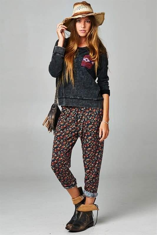 Carnation ditsy floral pants