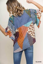 Load image into Gallery viewer, Mixed Print Round Neck Heathered Knit Top
