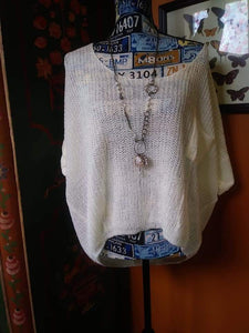 Ivory Sheer Slouchy Sweater