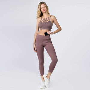 Crisscross athletic leggings