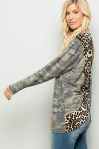 Leopard & Camo open back top