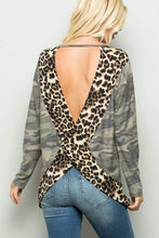 Load image into Gallery viewer, Leopard & Camo open back top