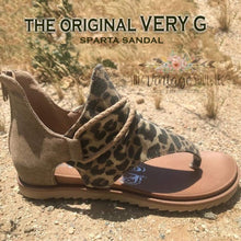 Load image into Gallery viewer, Leopard Sparta Sandal
