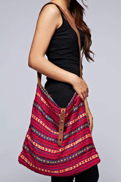 Tribal Print Cross Body Tote SALE