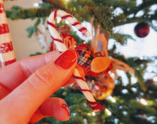 Load image into Gallery viewer, Mini felt candy cane ornaments
