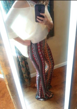 Load image into Gallery viewer, Hamsa bell bottom palazzo pants