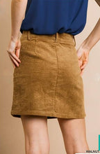 Load image into Gallery viewer, Walnut Corduroy mini skirt