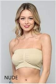 Nude strapless bralettes