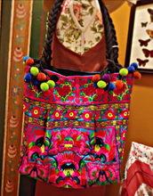 Load image into Gallery viewer, Bohemian embroidered tote bag