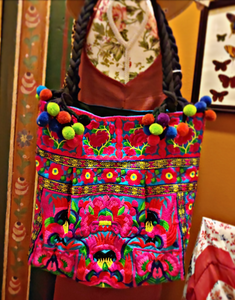 Bohemian embroidered tote bag
