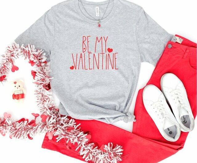 Rae Dunn Inspired Be My Valentine Crewneck Tee