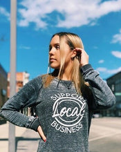 Load image into Gallery viewer, Support Local Business Vintage Crew Neck Sweatshirt